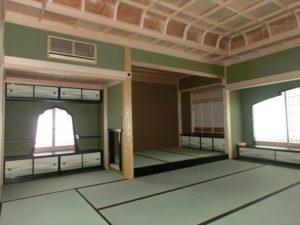 折上格天井と火灯窓にこだわった「真の座敷!!」東京都にある蕉雨園大書院をイメージしました!